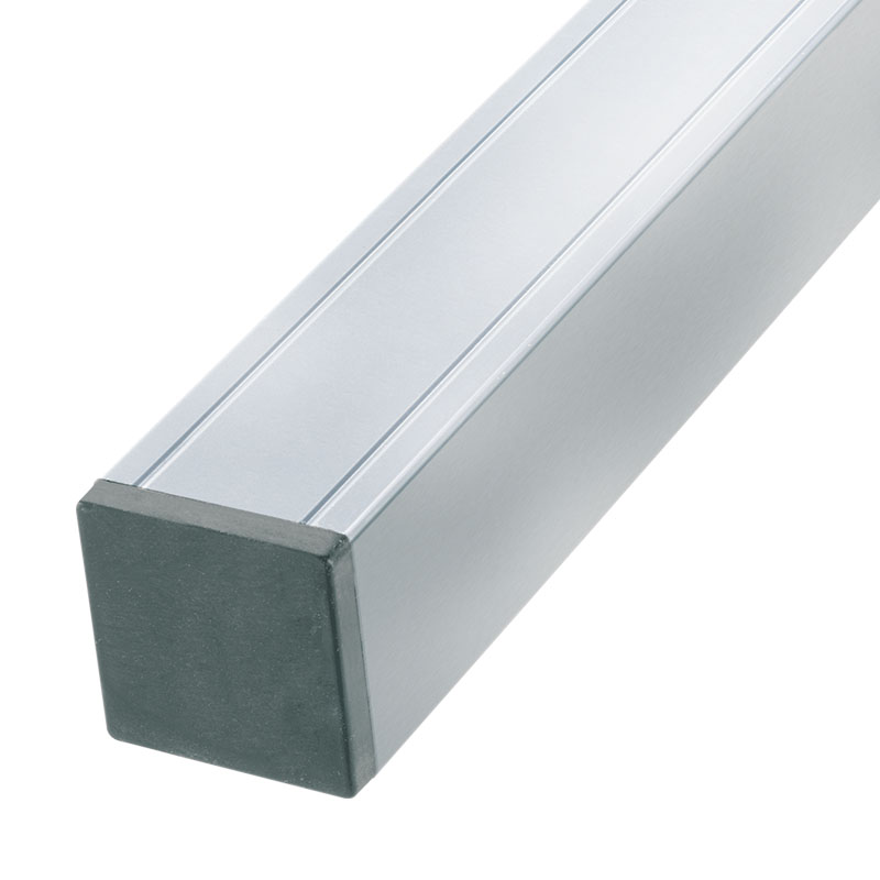 aluminium pfosten mit holzkern alu 88x88x2720mm forte design 79. Black Bedroom Furniture Sets. Home Design Ideas